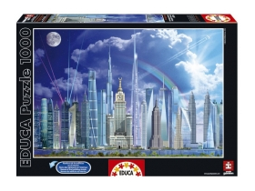 Puzzle Educa The world's tallest buildings, 1000 buc.