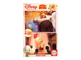 Puzzle Educa Disney Chicken Little, lemn 2x25 Buc.