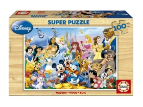 Educa Disney The Wonderful World of Disney Puzzle, drveni, 100 komada