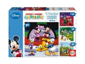 Puzzle Educa Disney Mickey Mouse and friends, 4 in 1