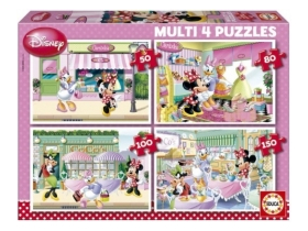Puzzle Educa Disney Minnie Mouse, 4 in 1