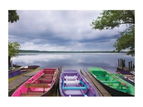 Puzzle Educa Colorful boats, 1000 buc.