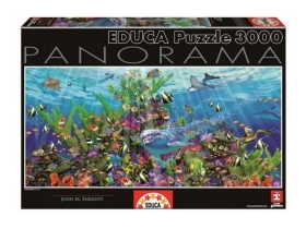 Puzzle Educa Underwater world panorama, 3000 buc.