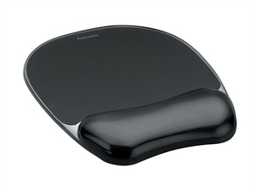 "Fellowes ""Crystal SoftGel"" mousepad, negru"