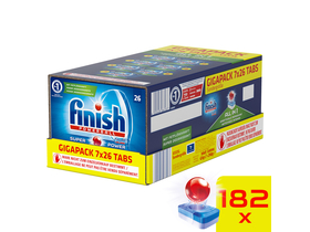 Finish All in One GigaPack Spülmaschinentabs-Pack, 182 Stk.