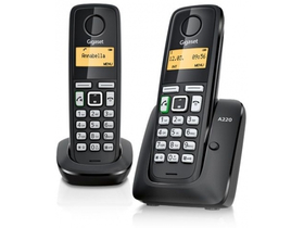 Telefon wireless Gigaset A220 DUO  (DECT), negru