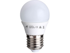 Global G45 4W E27 Led svetilka (E27, 320 Lm, 3.000K, 4W, toplo bela)