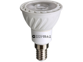 Global JDRE14COB6W E14 Led svetilka (E14, 480 Lm, 3.000K, 6W, tople bele barve)