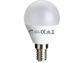 Bec LED Global P45/G455W E14    (E14, 400 Lm, 3.000K, 5W, alb cald)