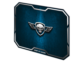 Spirit of Gamer Egérpad - WINGED SKULL Blue (295 x 235 x 3mm; kék)