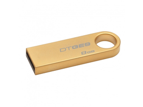 Pendrive Kingston DataTraveler GE9 8GB (DTGE9/8GB), carcasă metalică, auriu