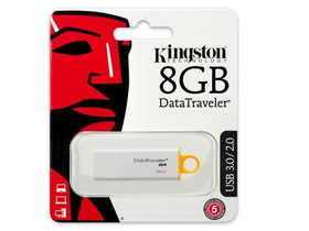 Kingston DataTraveler Generation 4 (DTIG4) 8GB USB3.0 USB ključ, rumeno-bel