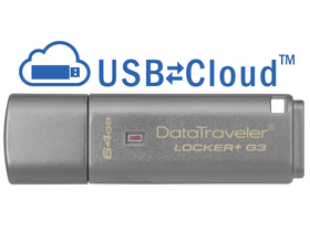 Kingston DataTraveler Locker+ G3 (DTLPG3) 64GB USB3.0 kovový pendrive