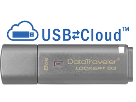 Kingston DataTraveler Locker+ G3 (DTLPG3) 8GB USB3.0 USB ključ s kovinskim ohišjem
