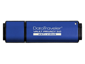 Kingston DataTraveler Vault Privacy Anti-Virus (DTVP30) USB 3.0 8GB pendrive, AES šifrování