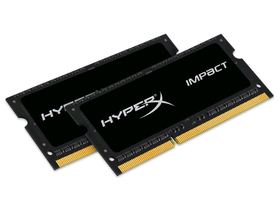 Kingston (HX316LS9IBK2/16) HyperX Impact Black 1,35V 16GB DDR3L notebook memória kit