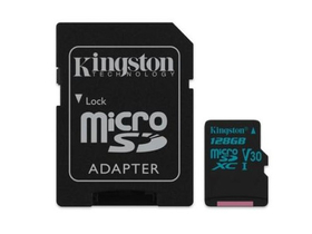 Kingston Secure Digital Micro 128GB Cl10 UHS-I U3 V30 (90/45) Canvas Go spominska kartica (SDCG2/128GB) + SD adapter