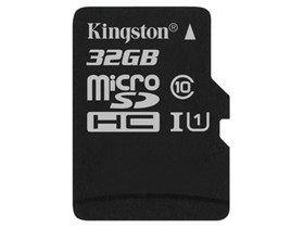 Kingston Canvas Select 32GB microSDHC memóriakártya, Class 10, UHS-I, U1 (SDCS/32GBSP)