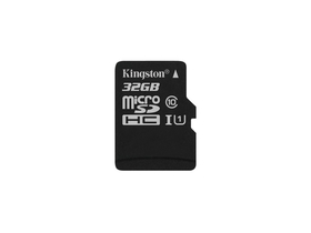 Kingston Secure Digital Micro 32GB Cl10 UHS-I U1 (80/10) Canvas Select pamäťová karta (SDCS/32GBSP), bez adaptéra