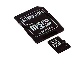 Kingston microSDHC kártya 16GB Class10 + SD adapter