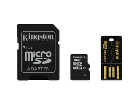 Kingston Secure Digital Micro 8GB SDHC Class10 + microSD čitač