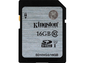 Kingston Secure Digital 16GB Cl10 UHS-I U1 memóriakártya (SD10VG2/16GB)