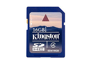 Kingston SDHC kártya 16GB Class4