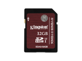 Card memorie Kingston SDHC kártya 32GB UHS-I Class 3