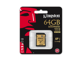 Kingston Secure Digital 64GB Cl10 UHS-I U1 (90/45) memóriakártya (SDA10/64GB)