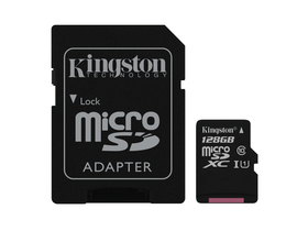 Kingston Secure Digital Micro 128GB SDXC Class10 memóriakártya + SD adapter