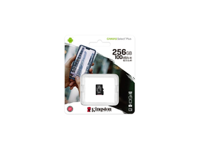 Kingston Canvas Select Plus 256GB micro SDXC memóriakártya, Class 10, A1 (SDCS2/256GBSP)
