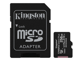 Kingston Canvas Select Plus 256GB MicroSDXC memóriakártya, + SD adapter, class 10