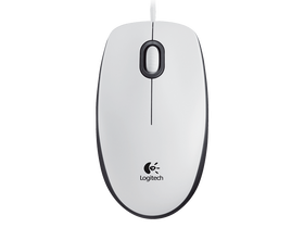 Mouse USB optic Logitech M100, alb