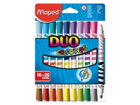"Maped ""Color Peps Duo"" umitelne fixky, 20 rôzne farby"