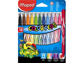"Maped ""Color`Peps Jungle"" flomastri, 12 različnih barv"