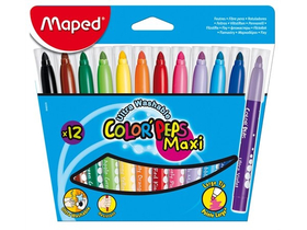 Maped COLOR`PEPS MAXI flomaster, 12 kosov/paket