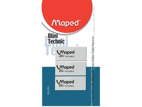 Maped Mini Technic radír, 3 db/bliszter