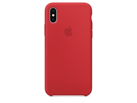 Apple iPhone X silikonska futrola, crvena (mqt52zm/a)