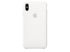 Apple iPhone XS Max Silicone Case (mrwf2zm/a), White