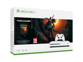 Microsoft Xbox One S 1TB herná konzola + Shadow of Tomb Raider hra