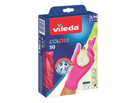 Vileda F20077 Colors 50 ръкавици за еднократна употреба, размер S / M