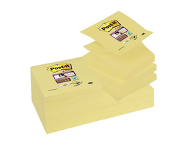 3M Post-it® Öntapadó jegyzettömb, `Z`, 12x90 lap, 76x76 mm  `Super Sticky`, sárga