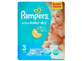 Pampers Active Baby-Dry plienky 3 Midi 90 ks