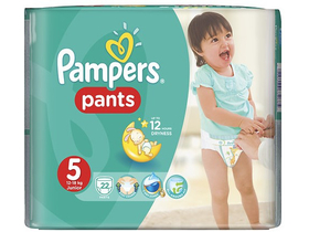 Scutece Pampers  Pants  5 Junior 22  buc.