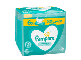 Pampers Sensitive maramice, 6x80