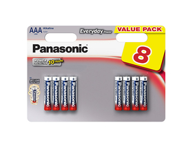 Panasonic Everyday Power LR03EPS-8BW AAA mikro 1.5V szupertartós alkáli elemcsomag (8db)