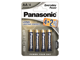 Panasonic Everyday Power LR6EPS-6BP-4-2F AA алкална батерия (6 бр.)