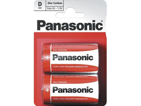 Panasonic Red Zinc D 1.5V batéria (2ks)