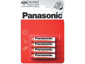 Panasonic Red Zinc R03R-4BP AAA mikro 1.5V цинков манганов чист батерен пакет (4 бр.)