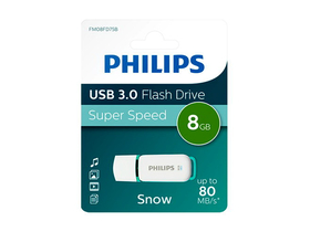 Philips Snow 8GB USB 3.0 Flash Drive, zeleno-bel(PH635954)